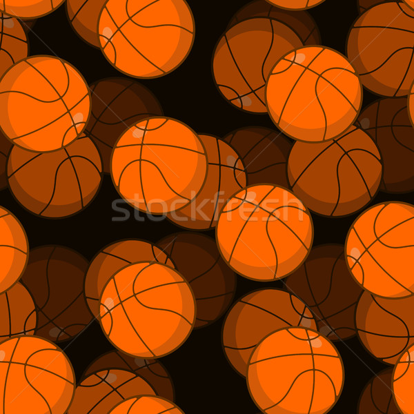 Basketball 3D seamless pattern. Sports accessory ornament. Baske Stock photo © MaryValery
