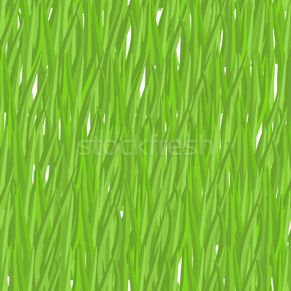 Green grass seamless pattern. Vector background natural greenery Stock photo © MaryValery