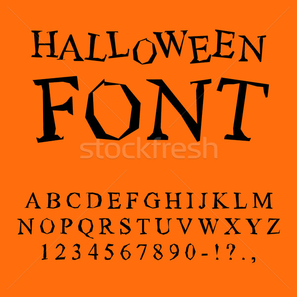Halloween font. Curves of letters to terrible holiday. Broken al Stock photo © MaryValery
