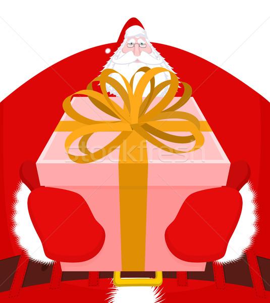 Foto stock: Navidad · regalo · abuelo · manos · cuadro