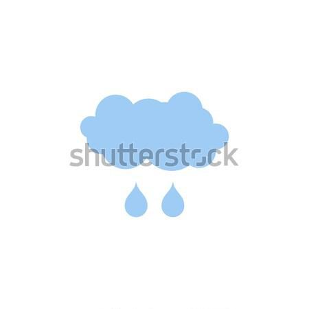 Nube lluvia icono tiempo pictograma aislado Foto stock © MaryValery