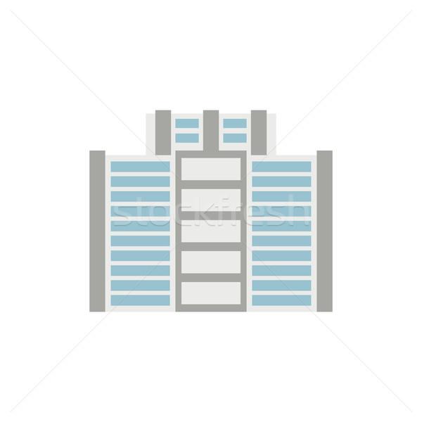 Immeuble de bureaux isolé ville architecture signe affaires Photo stock © MaryValery