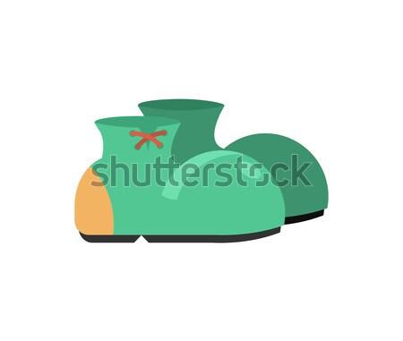 Foto stock: Botas · palhaço · isolado · engraçado · sapatos · branco