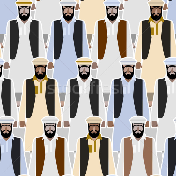 Refugiado multidão Afeganistão Paquistão vetor Foto stock © MaryValery