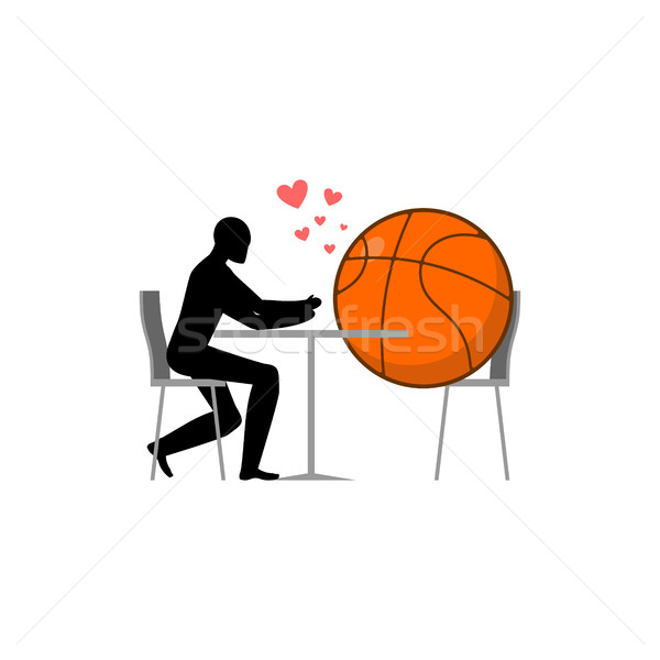 баскетбол мяча парень кафе любителей Сток-фото © MaryValery