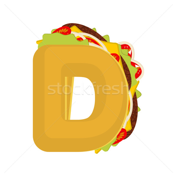 Letra d tacos mexicano fast-food fonte Foto stock © MaryValery
