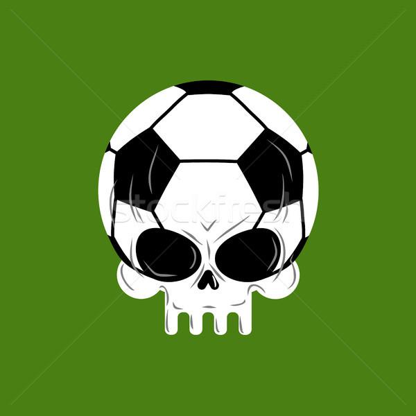 Skull soccer ball. Football skeleton head. Emblem for sports fan Stock photo © MaryValery