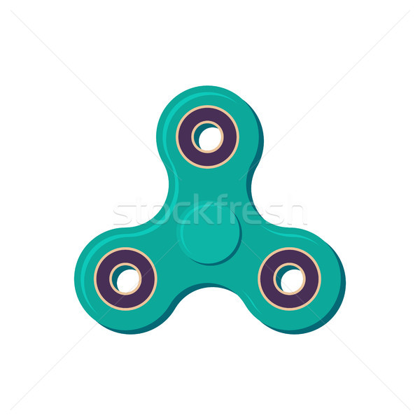 Spinner isolated. Fidget finger toy. Anti stress hand toy on whi Stock photo © MaryValery