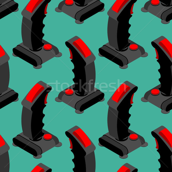 ретро джойстик шаблон старые геймпад колесо Сток-фото © MaryValery