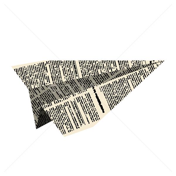 Carta piano aeromobili giornale bianco design Foto d'archivio © MaryValery