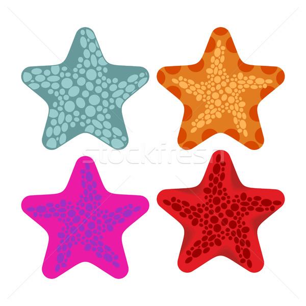 Establecer estrellas de mar animales océano playa Foto stock © MaryValery