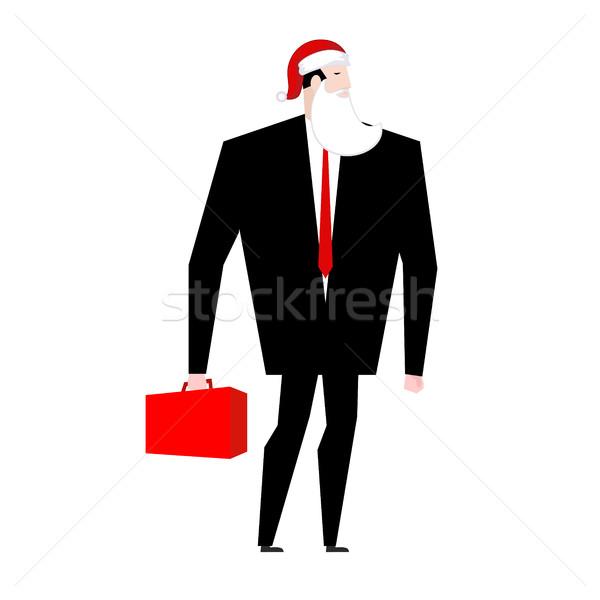 Patron noel baba yanlış sakal kırmızı kapak Stok fotoğraf © MaryValery
