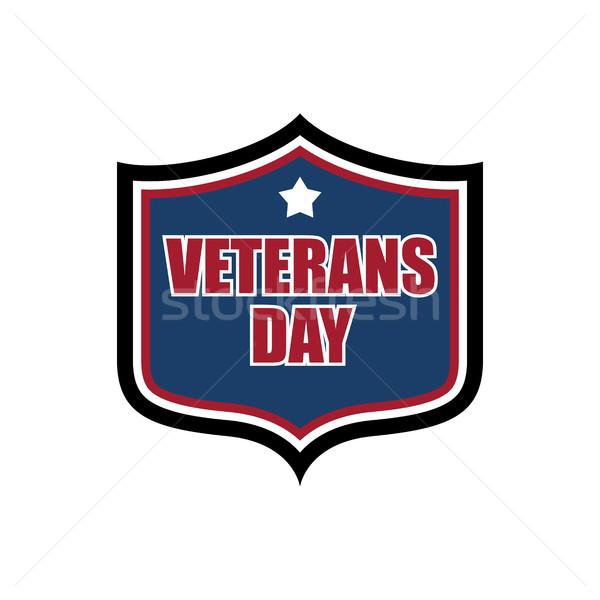 Dag schild embleem militaire logo oorlog Stockfoto © MaryValery