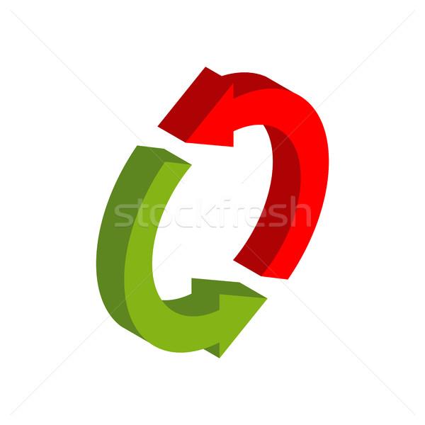Intercambio signo símbolo aislado logotipo de la empresa rojo Foto stock © MaryValery