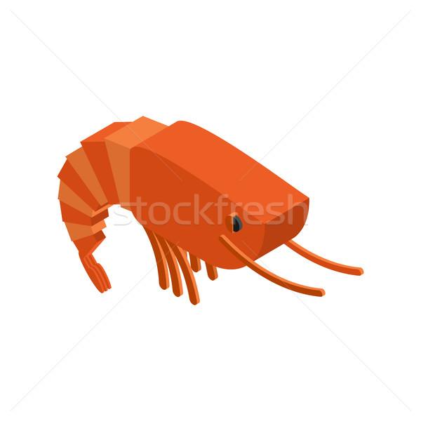 Shrimp isolated. Crustaceans on white background. sea anim Stock photo © MaryValery