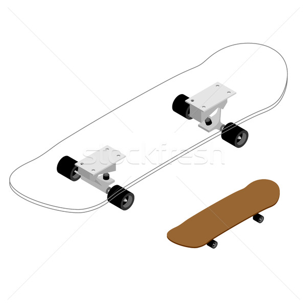 Skateboard structure. Board for skiing specification circuit. Tr Stock photo © MaryValery