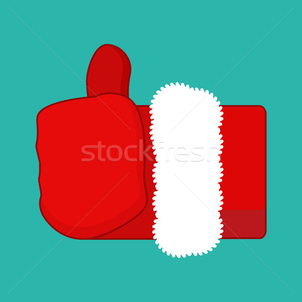 Christmas Like Santa Claus. Thumb up. Symbol all right. success  Stock photo © MaryValery