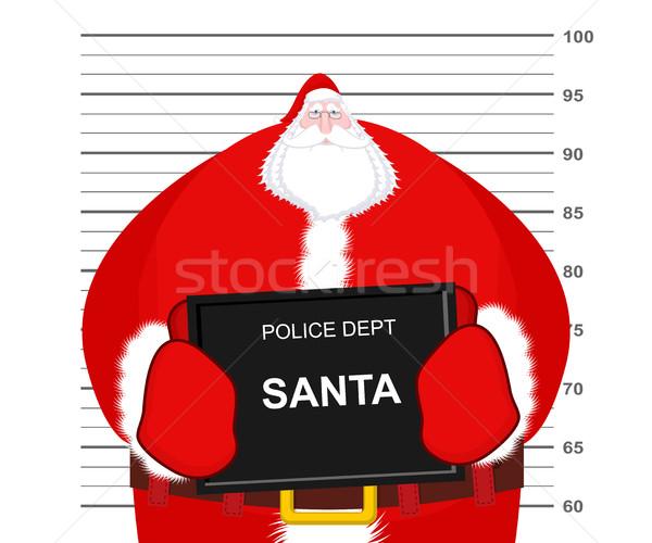 Noel baba polis bölüm kupa atış Noel Stok fotoğraf © MaryValery