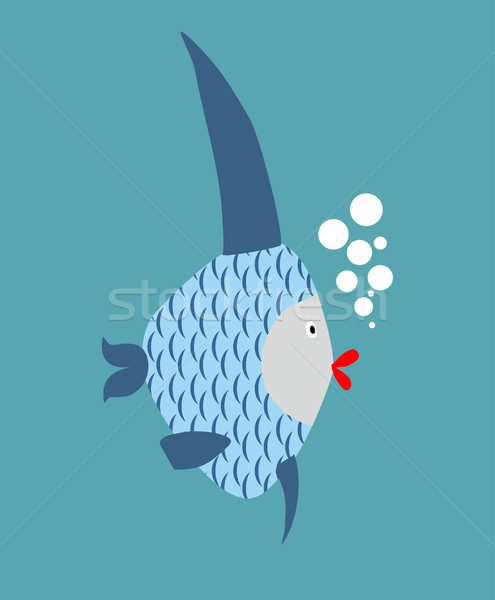 Tropical Fish isolated. Marine animal in water Stock photo © MaryValery