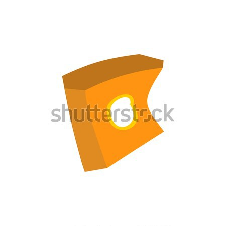 Paper box of french fries crushed garbage isolated. package rubb Stock photo © MaryValery
