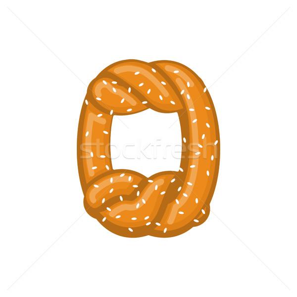 Numero pretzel carattere pari a zero simbolo Foto d'archivio © MaryValery