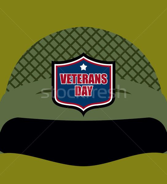 Patriota dzień godło żołnierzy kask wojskowych Zdjęcia stock © MaryValery