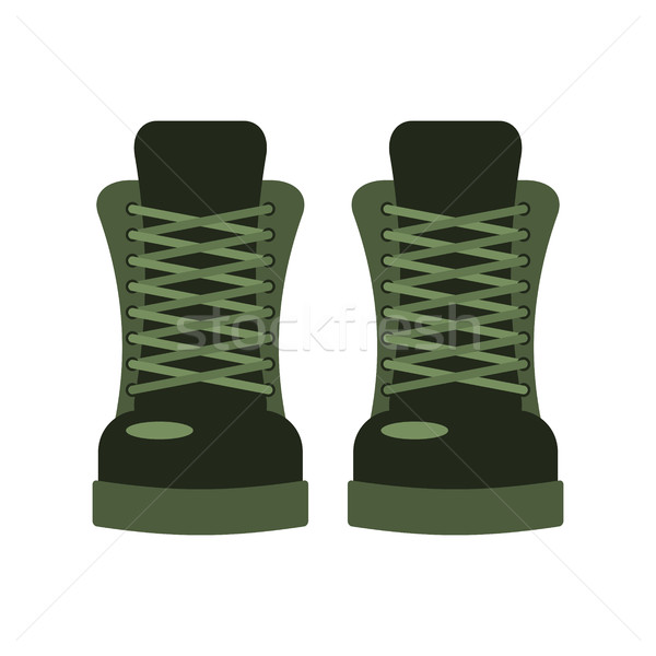 Military footwear. Soldier special shoes. army boot Stock photo © MaryValery