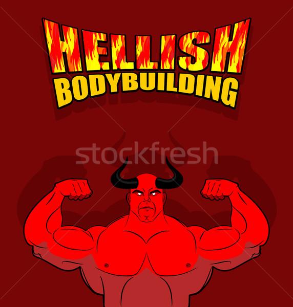 сатана большой мышцы фитнес ад Сток-фото © MaryValery
