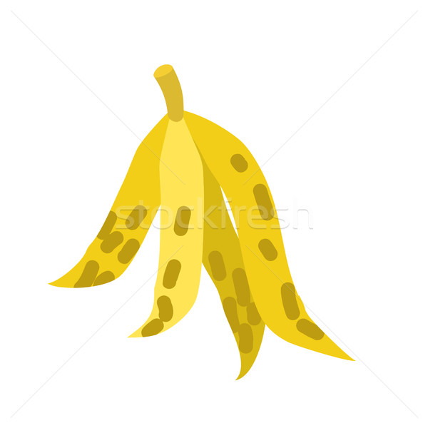 Peel banana isolated trash. Garbage white background Stock photo © MaryValery