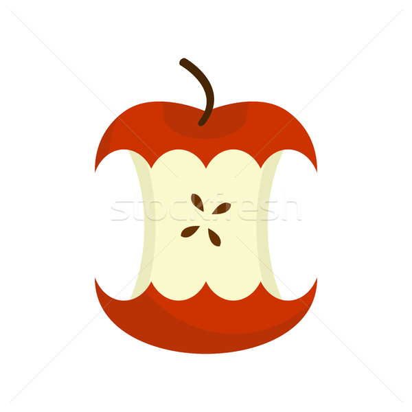 red Apple core isolated. Fruit trash. Rubbish on white backgroun Stock photo © MaryValery