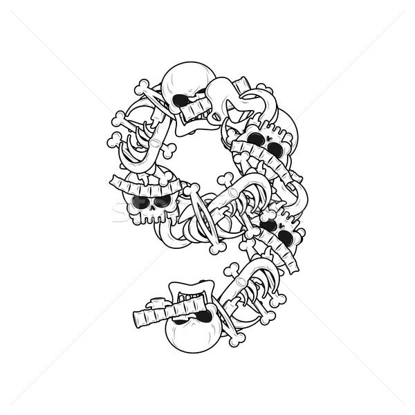 Número esqueleto ossos fonte nove anatomia Foto stock © MaryValery