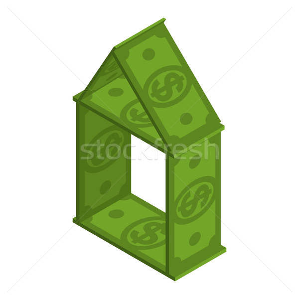 House of dollars. building is made of money. House of cards from Stock photo © MaryValery
