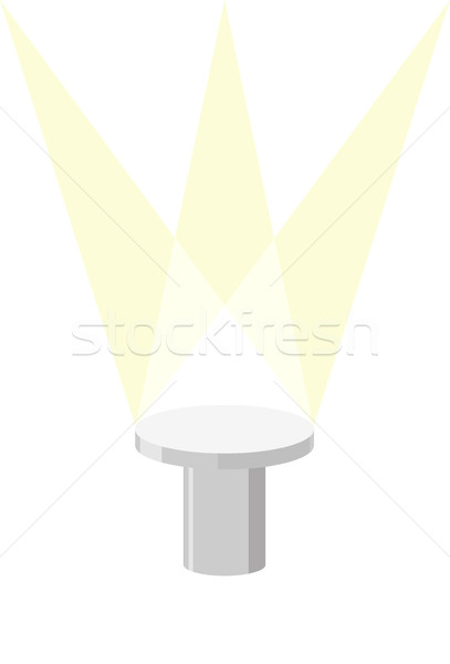 Round Pedestal on a white background, with light illuminator. Ve Stock photo © MaryValery