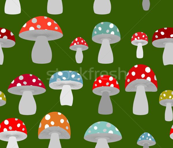 Tossico funghi senza soluzione di continuità retro tessuto Foto d'archivio © MaryValery