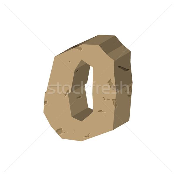 числа каменные рок шрифт нулевой камней Сток-фото © MaryValery