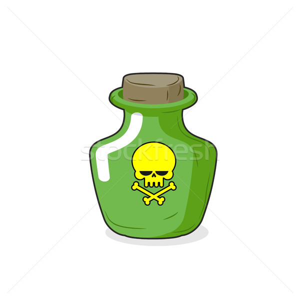 Stock photo: Magic Bottle with a skull. Medical bottle with a poisonous liqui