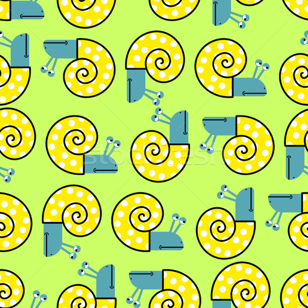 Snail seamless pattern. Vector background with clam shells. Chee Stock photo © MaryValery