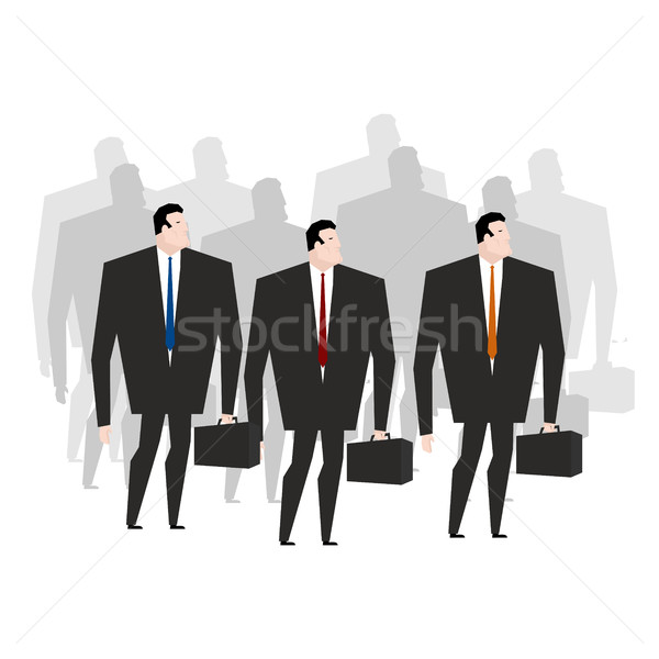 Crowd managers. Many businessmen. Throng office clerks Stock photo © MaryValery
