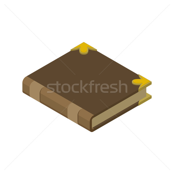 Closed book isolated. Old volume on white background Stock photo © MaryValery