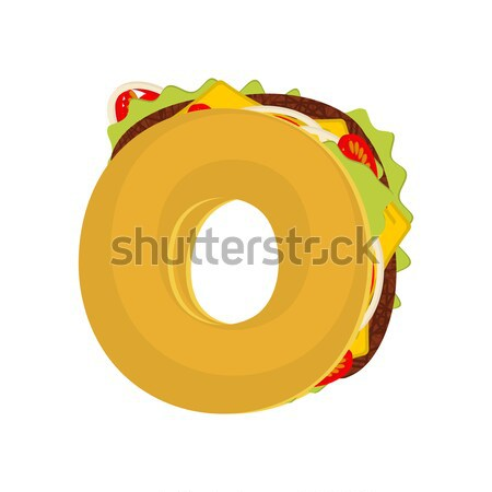 Letter Q tacos. Mexican fast food font. Taco alphabet symbol. Me Stock photo © MaryValery