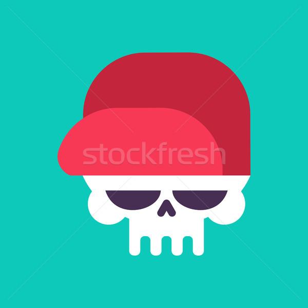 Koponya baseballsapka izolált fej csontváz kalap Stock fotó © MaryValery