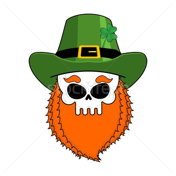 頭蓋骨 赤 あごひげ 緑 アイルランド ストックフォト © MaryValery