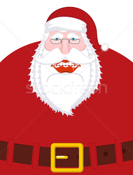 Merry Santa Claus nicker and belt. Broad smile. large mouth. Mer Stock photo © MaryValery