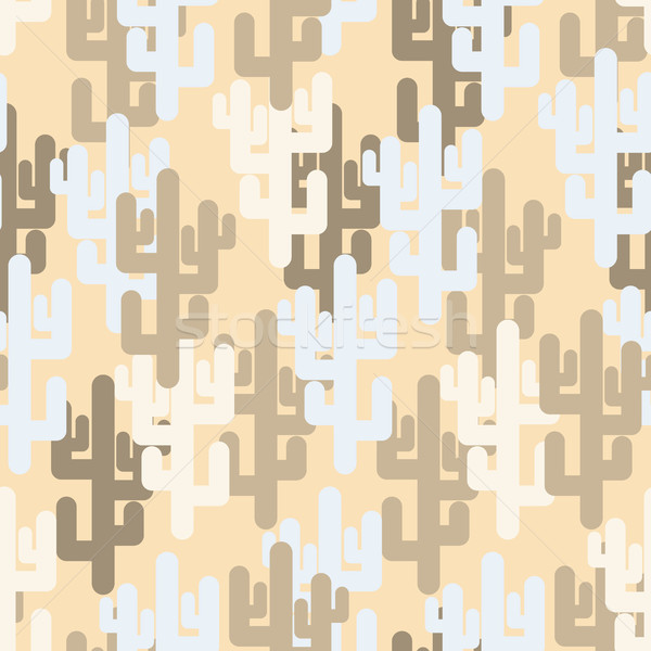 Military texture of cactus. Camouflage army 'desert' of silhouet Stock photo © MaryValery