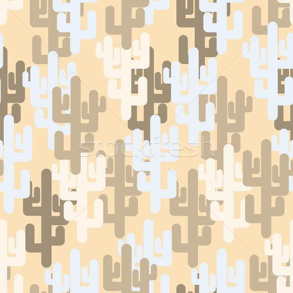 Militaire textuur cactus camouflage leger woestijn Stockfoto © MaryValery
