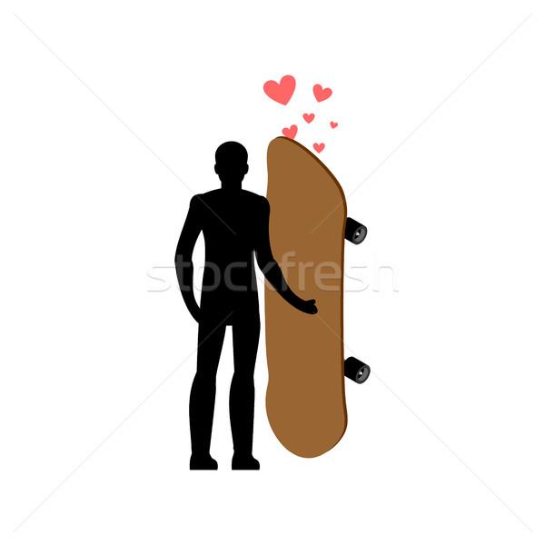 Skateboarding andar de skate amor extremo Foto stock © MaryValery