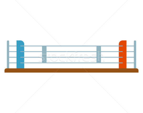 Boxer ring flat isolated. Sport object on white background Stock photo © MaryValery