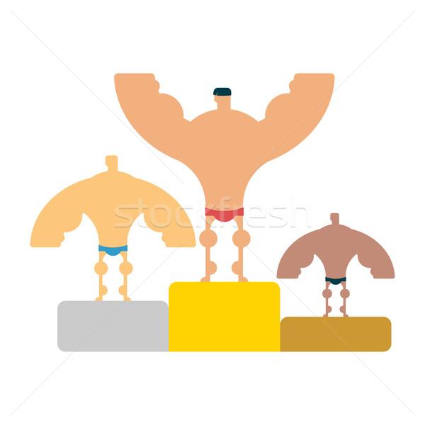 Primeiro lugar musculação fitness modelo corpo Foto stock © MaryValery