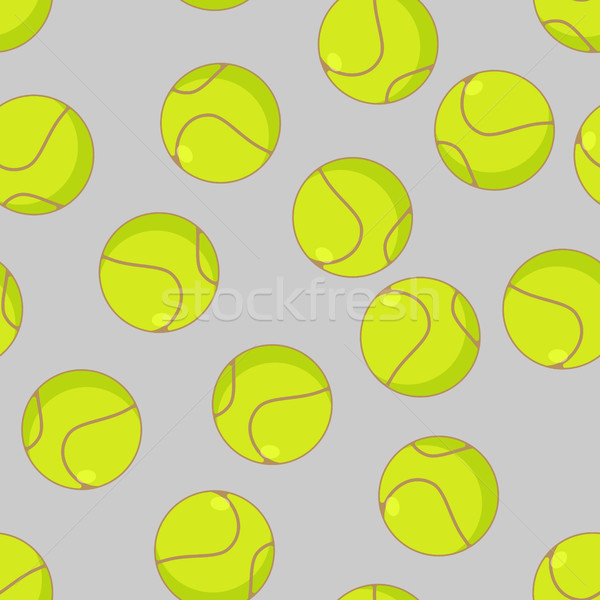 Tennis ball seamless pattern. Sports accessory ornament. Tennis  Stock photo © MaryValery