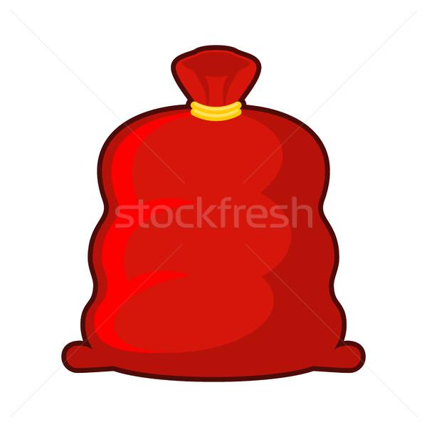 Red sack of Santa Claus. Big Fat Christmas gift bag. Illustratio Stock photo © MaryValery
